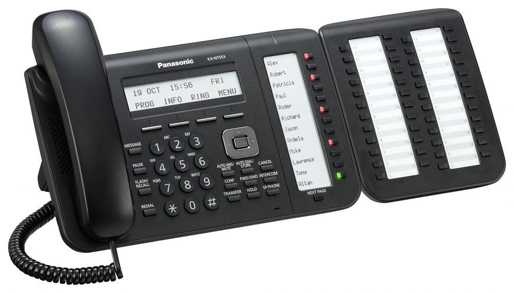 Systémový IP telefon Panaonic KX-NT553