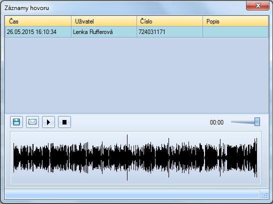 Software rozšiřující možnosti ANTS CTI Telefonního klienta o funkci nahrávání hovorů (zvukového záznamu).