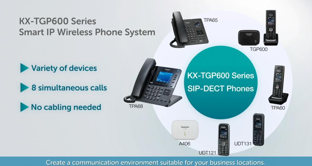KX-TGP600 série, chytrý IP bezdrátový telefonní systém